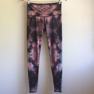 Teeki tie dye eagle feather leggings yoga pant